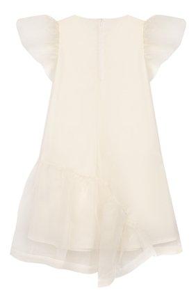 Детское шелковое платье UNLABEL белого цвета, арт. CALLA-2/52-IN016/8A-10A | Фото 2