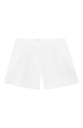 Детские хлопковые шорты IL GUFO белого цвета, арт. P20PS008C6002/5A-8A | Фото 1
