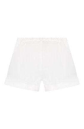 Детские хлопковые шорты IL GUFO белого цвета, арт. P20PS008C6002/5A-8A | Фото 2