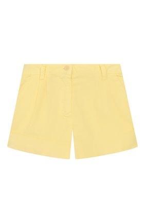 Детские хлопковые шорты IL GUFO желтого цвета, арт. P20PS008C6002/5A-8A | Фото 1
