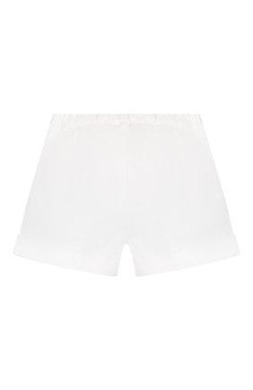 Детские хлопковые шорты IL GUFO белого цвета, арт. P20PS008C6002/2A-4A | Фото 2