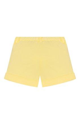 Детские хлопковые шорты IL GUFO желтого цвета, арт. P20PS008C6002/2A-4A | Фото 2
