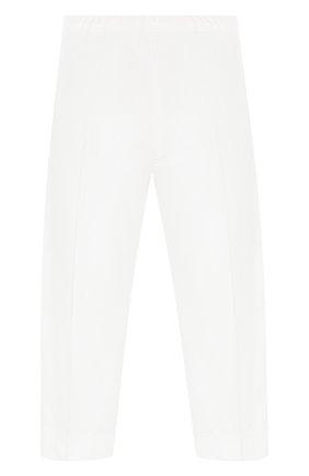 Детского хлопковые брюки IL GUFO белого цвета, арт. P20PR004C6002/5A-8A | Фото 2