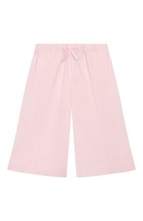 Детского хлопковые брюки IL GUFO розового цвета, арт. P20PR004C6002/5A-8A | Фото 1
