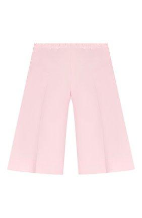 Детского хлопковые брюки IL GUFO розового цвета, арт. P20PR004C6002/5A-8A | Фото 2