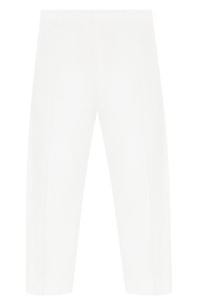 Детского хлопковые брюки IL GUFO белого цвета, арт. P20PR004C6002/2A-4A | Фото 2