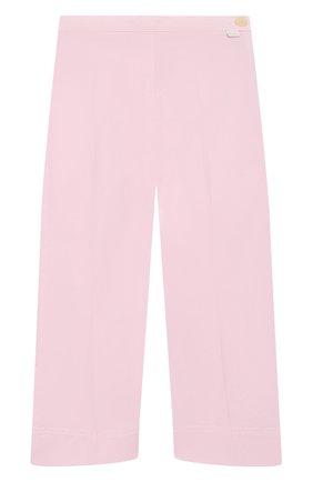 Детского хлопковые брюки IL GUFO розового цвета, арт. P20PR004C6002/2A-4A | Фото 1