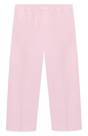 Детского хлопковые брюки IL GUFO розового цвета, арт. P20PR004C6002/2A-4A | Фото 2
