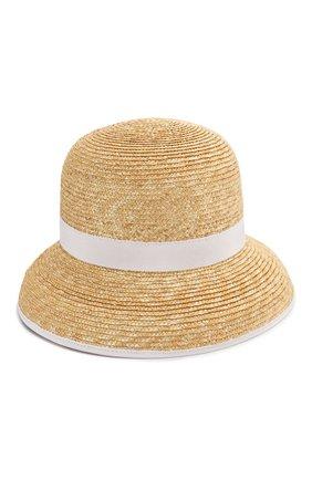 Детская соломенная шляпа IL GUFO белого цвета, арт. P20E0282EA301   Фото 1