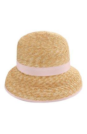 Детская соломенная шляпа IL GUFO розового цвета, арт. P20E0282EA301 | Фото 1