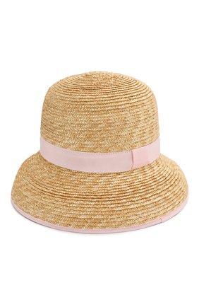 Детская соломенная шляпа IL GUFO розового цвета, арт. P20E0282EA301 | Фото 2