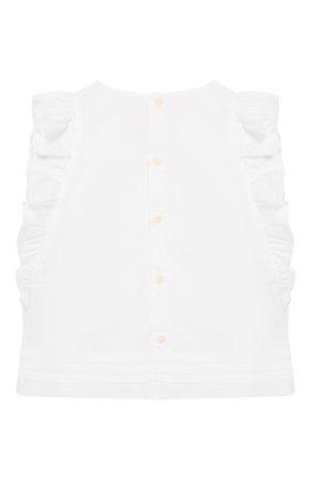 Детский хлопковый топ IL GUFO белого цвета, арт. P20CC064C0050/5A-8A | Фото 2