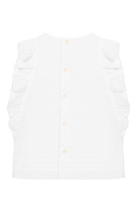Детский хлопковый топ IL GUFO белого цвета, арт. P20CC064C0050/2A-4A | Фото 2