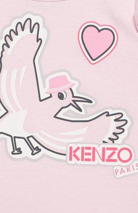 Детский комплект из 3-х предметов KENZO розового цвета, арт. KQ99003   Фото 8