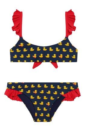 Детского раздельный купальник MC2 SAINT BARTH синего цвета, арт. STBK CAMELIA/CAME001 | Фото 1 (Материал внешний: Синтетический материал; Девочки Кросс-КТ: Купальники-пляж)