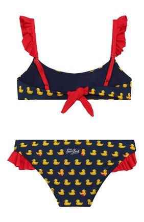 Детского раздельный купальник MC2 SAINT BARTH синего цвета, арт. STBK CAMELIA/CAME001 | Фото 2 (Материал внешний: Синтетический материал; Девочки Кросс-КТ: Купальники-пляж)