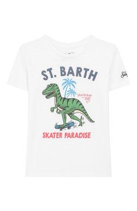 Детская хлопковая футболка MC2 SAINT BARTH белого цвета, арт. STBK FLYNN/FLY0001 | Фото 1