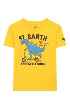 Детская хлопковая футболка MC2 SAINT BARTH желтого цвета, арт. STBK FLYNN/FLY0001 | Фото 1