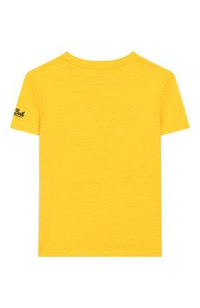 Детская хлопковая футболка MC2 SAINT BARTH желтого цвета, арт. STBK FLYNN/FLY0001 | Фото 2
