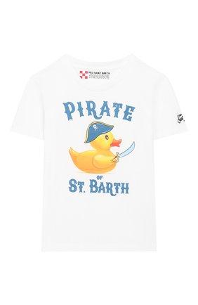 Детская хлопковая футболка MC2 SAINT BARTH белого цвета, арт. STBK TSHIRT B0Y/TSH0001 | Фото 1