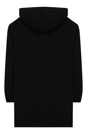 Детское хлопковое платье PHILOSOPHY DI LORENZO SERAFINI KIDS черного цвета, арт. PJAB69/FE144/VH004/S-M | Фото 2