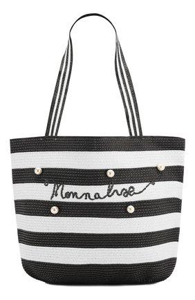 Детская сумка MONNALISA черно-белого цвета, арт. 995033 | Фото 1