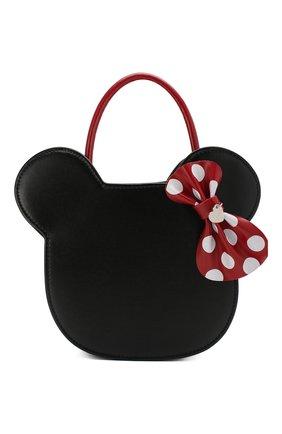 Детская сумка MONNALISA черного цвета, арт. 195010 | Фото 1