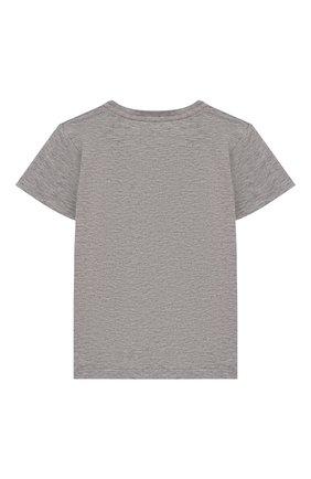 Детский хлопковая футболка GUCCI серого цвета, арт. 548034/XJBCG | Фото 2