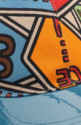 Детская бейсболка GUCCI разноцветного цвета, арт. 608208/4HJ85 | Фото 3