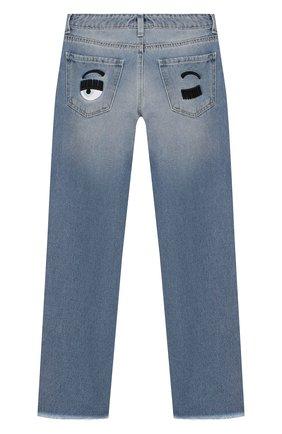 Детские джинсы CHIARA FERRAGNI голубого цвета, арт. 20PE-CFKJS003 | Фото 2