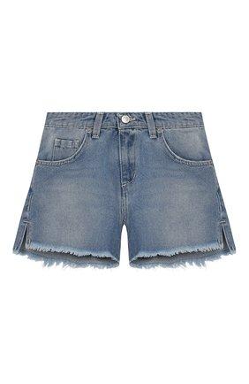 Детские джинсовые шорты CHIARA FERRAGNI голубого цвета, арт. 20PE-CFKS002 | Фото 1
