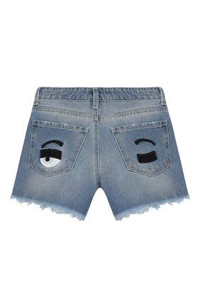 Детские джинсовые шорты CHIARA FERRAGNI голубого цвета, арт. 20PE-CFKS002 | Фото 2
