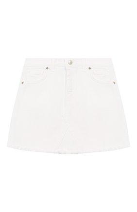 Детская джинсовая юбка CHIARA FERRAGNI белого цвета, арт. 20PE-CFKST002 | Фото 1