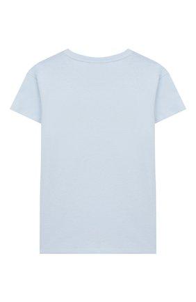 Детская хлопковая футболка CHIARA FERRAGNI голубого цвета, арт. 20PE-CFKT005 | Фото 2