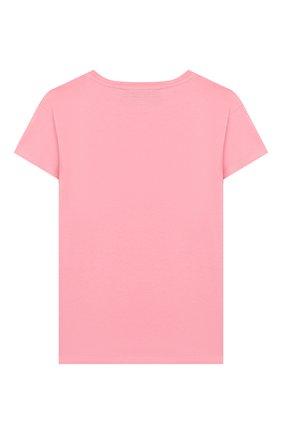 Детская хлопковая футболка CHIARA FERRAGNI розового цвета, арт. 20PE-CFKT005 | Фото 2