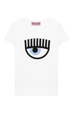 Детская хлопковая футболка CHIARA FERRAGNI белого цвета, арт. 20PE-CFKT008 | Фото 1