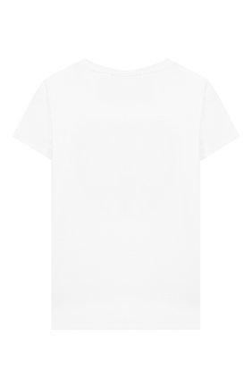 Детская хлопковая футболка CHIARA FERRAGNI белого цвета, арт. 20PE-CFKT008 | Фото 2