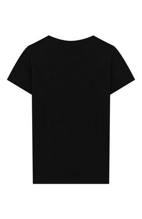 Детская хлопковая футболка CHIARA FERRAGNI черного цвета, арт. 20PE-CFKT014 | Фото 2