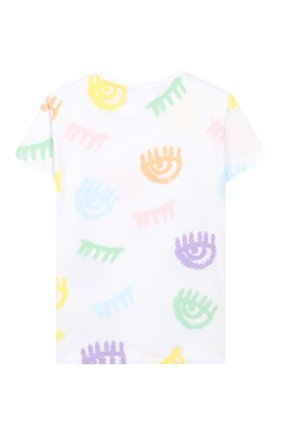 Детская хлопковая футболка CHIARA FERRAGNI белого цвета, арт. 20PE-CFKT016 | Фото 2