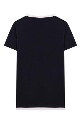 Детская хлопковая футболка MANUEL RITZ синего цвета, арт. MR1052/2A-6A | Фото 2