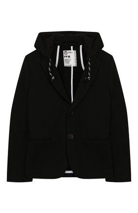 Детский хлопковый пиджак PAOLO PECORA MILANO черного цвета, арт. PP2331/8A-12A | Фото 1