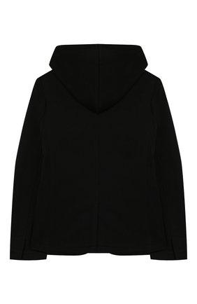 Детский хлопковый пиджак PAOLO PECORA MILANO черного цвета, арт. PP2331/8A-12A | Фото 2