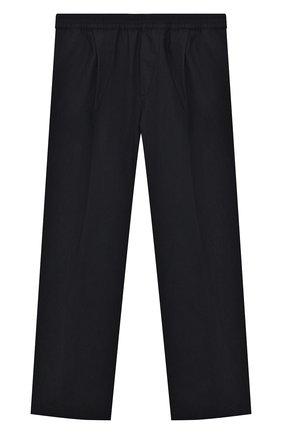 Детские хлопковые брюки EMPORIO ARMANI темно-синего цвета, арт. 3H4PC5/1N7ZZ | Фото 1