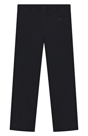 Детские хлопковые брюки EMPORIO ARMANI темно-синего цвета, арт. 3H4PC5/1N7ZZ | Фото 2