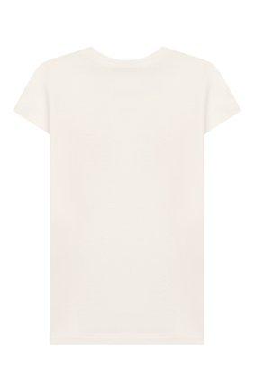 Детская хлопковая футболка FENDI белого цвета, арт. JFI188/7AJ/8A-12+ | Фото 2