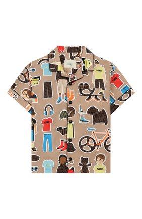 Детская хлопковая рубашка FENDI разноцветного цвета, арт. JMC100/AACU/3A-6A | Фото 1