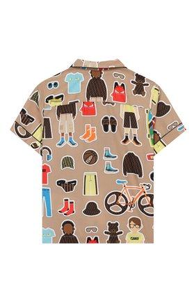 Детская хлопковая рубашка FENDI разноцветного цвета, арт. JMC100/AACU/3A-6A | Фото 2