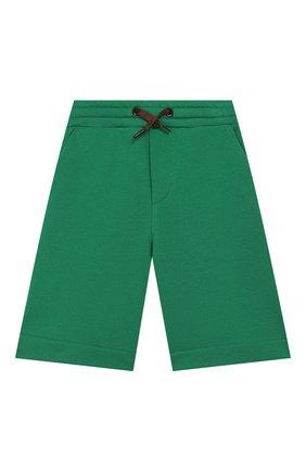 Детские хлопковые шорты FENDI зеленого цвета, арт. JMF256/5V0/8A-12+ | Фото 1
