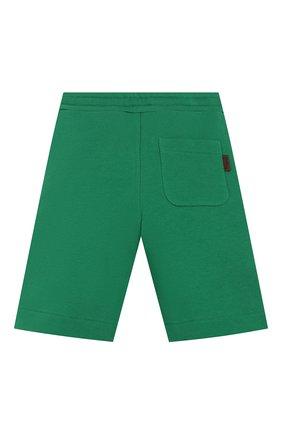Детские хлопковые шорты FENDI зеленого цвета, арт. JMF256/5V0/8A-12+ | Фото 2