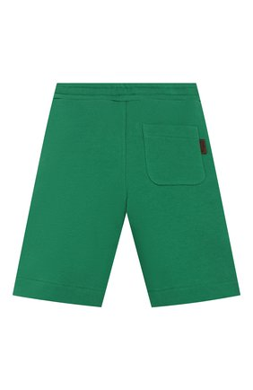 Детские хлопковые шорты FENDI зеленого цвета, арт. JMF256/5V0/3A-6A | Фото 2